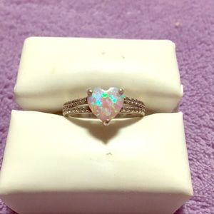 Pink opal ring size 6